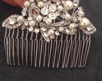 Bridal comb wedding hair accessories bridal hair piece wedding comb Wedding headpiece crystal comb bridal tiara bridal hair accessories