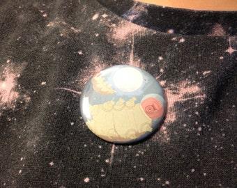 Tardigrades In Space Button / Cute Tardigrade Art -Pinback Button- Water Bear - Moss Piglet - Outer Space Art - Science Gift - Geek Gift