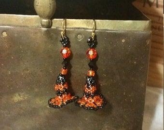 Witch Hat Dangle Earrings