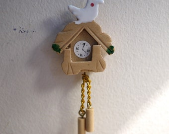 Dollhouse cuckoo wall clock dolls house livingroom decoration 1 12th scale miniature