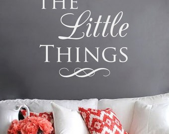Vinyl Wall Decal, Inspiring Wall Decal, Newlywed Gift, Enjoy the Little Things, Vinyl Letters, Gift for Her, New Homeowner, Vinyl