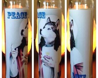 Husky Holy Prayer Candle [Free Shipping!]
