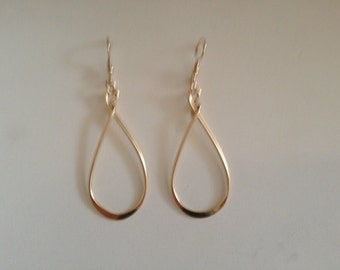 Goldfilled large loop dangle earring.