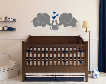 Elephant Family Wall Decal, Nursery Wall Decal, Family Decal, Elephants  Decal Sticker,SALE