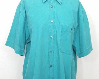 Vintage Short Sleeved by Jaeger in Blue Size M - Excellent Condition - Free Postage