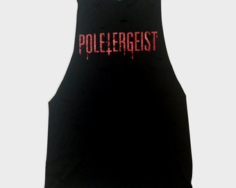Pole Dance Shirt /// POLETERGEIST /// Tank Top /// Horror Goth Halloween /// T shirt