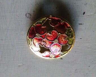 Vintage Gold Floral Brooch