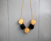 Geometric Necklace - Blac...