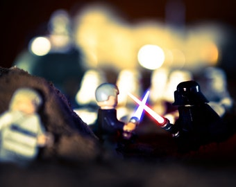 Darth Vader Print - Star Wars Print, Lego Darth Vader, Lightsaber, Lego Photography - Lego Star Wars Photography Print