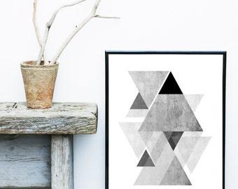 Abstract Art Print, Geometric Art, Printable Art, Scandinavian Art Print, Geometric Print,  Abstract Wall Art, Instant Download