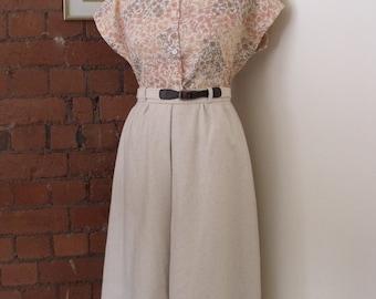 Vintage 70's Linen Shirt UK8-10