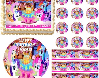 MY LITTLE PONY Party Edible Cake Topper Image Frosting Sheet Cake Decoration Many Sizes!