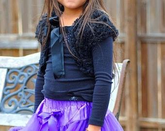 black cute girl vest, birthday outfit, princess dress vest, photography outfir, girl, kids, flulfy vest