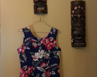 Women's Hawaiian Dress by KY's International Fashion- Made in Hawaii- XL