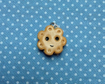 Kawaii Polymer Clay Jam And Cream Biscuit Charm
