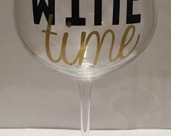 Wine Time Red Wine Glass