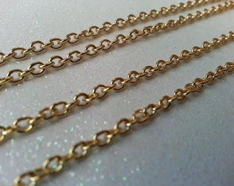 5 ft Fine Gold Color Cable Chain