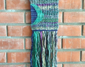 Purples and Greens - Handwoven Wall Art