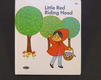 LITTLE Red RIDING HOOD Whitman Tell a Tale book Mary Lous Dettmer  1971 hardback New!!!