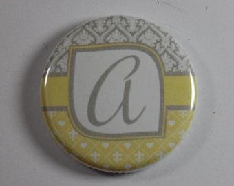 Magnets- Alphabet yellow/grey
