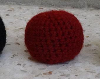 handmade crochet hacky sack ball any color