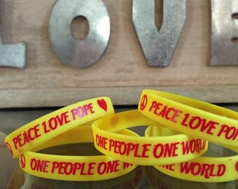 Peace Love Pope Wristband