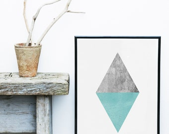 Triangles Print, Scandinavian Art, Triangle Art, Nordic Design,  Abstract Art Print,  Art Print, Giclee print, Wall Art,  Poster, Wall Decor
