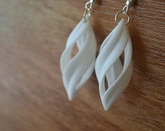 3D Printed Modern Twist Earrings
