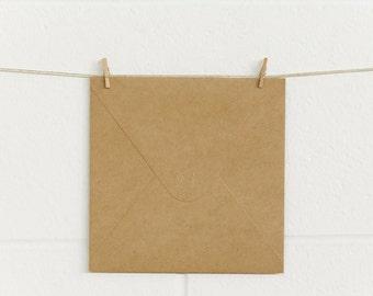 Envelopes 10pk, Square 165 x 165mm, SQ165 Natural Kraft