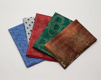 Deluxe Reusable Fabric Gift Wrap Set