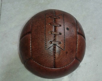 1950 Style Genuine Leather Soccer Ball, Size 2,  12 Panels