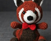Amigurumi Panda Rojo : Popular items for crochet red panda on Etsy
