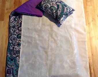 Purple and Teal Paisley