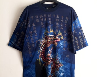 VIntage Chinese Dragon Silky Tee