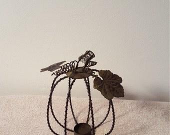 Wire Pumpkin Candle Holder