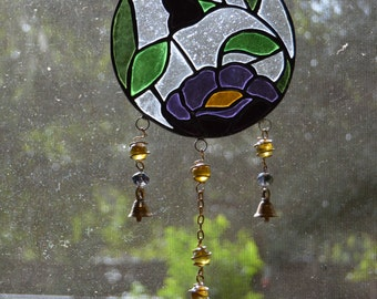 hand made stained glass wind chimes