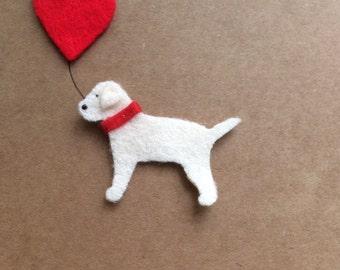 Yellow Labrador Retriever Heart Card//Personalised Card// Wedding Card//Engagement Card//Anniversary Card//Labrador dog birthday card