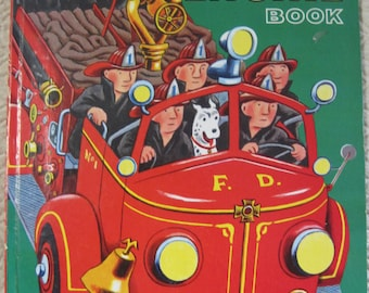 The Great Big FIRE ENGINE Book, A Golden Book, 1980, Vintage Children's Book