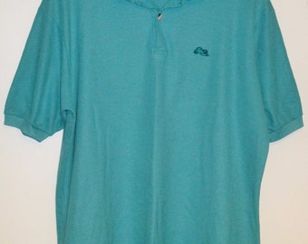 70's Garan Tiger Teal Polo