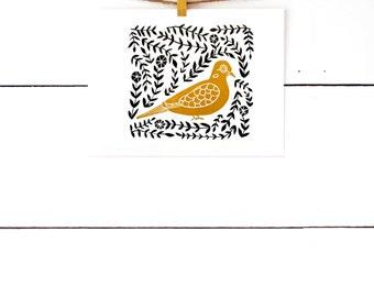 Bird Art Print, Mourning Dove, Bird Prints, Block Print Art, Linocut, Lino Print, Scandinavian Print, Folk Print Nature Print, Nature Art