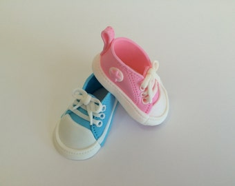 Fondant Edible Baby Converse Shoes Cake Topper
