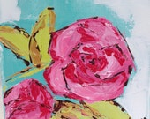 Abstract Flower Painting - Floral art - palette knife painting - modern art - contemporary art - abstract painting
