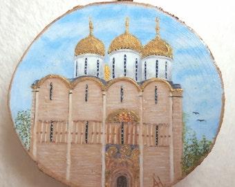 Miniature gold leaf - Russian church