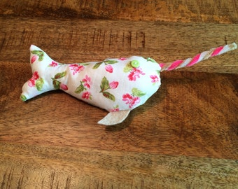 Narwhal Cat toy with catnip