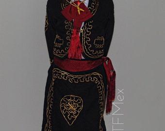 Mariachi Attire (Girls)/Traje de Charro Girls Dresses/Sombrero and accessories included/Cinco de Mayo/ Mexican Dress/*Shirt Not included