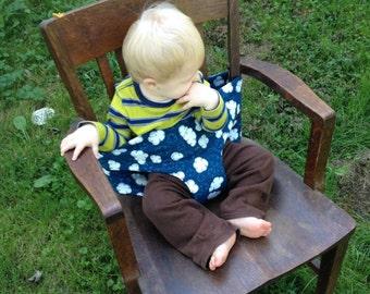 SALE! Portable Cloth High Chair, Shopping Cart Belt, Blue, Green, Clouds