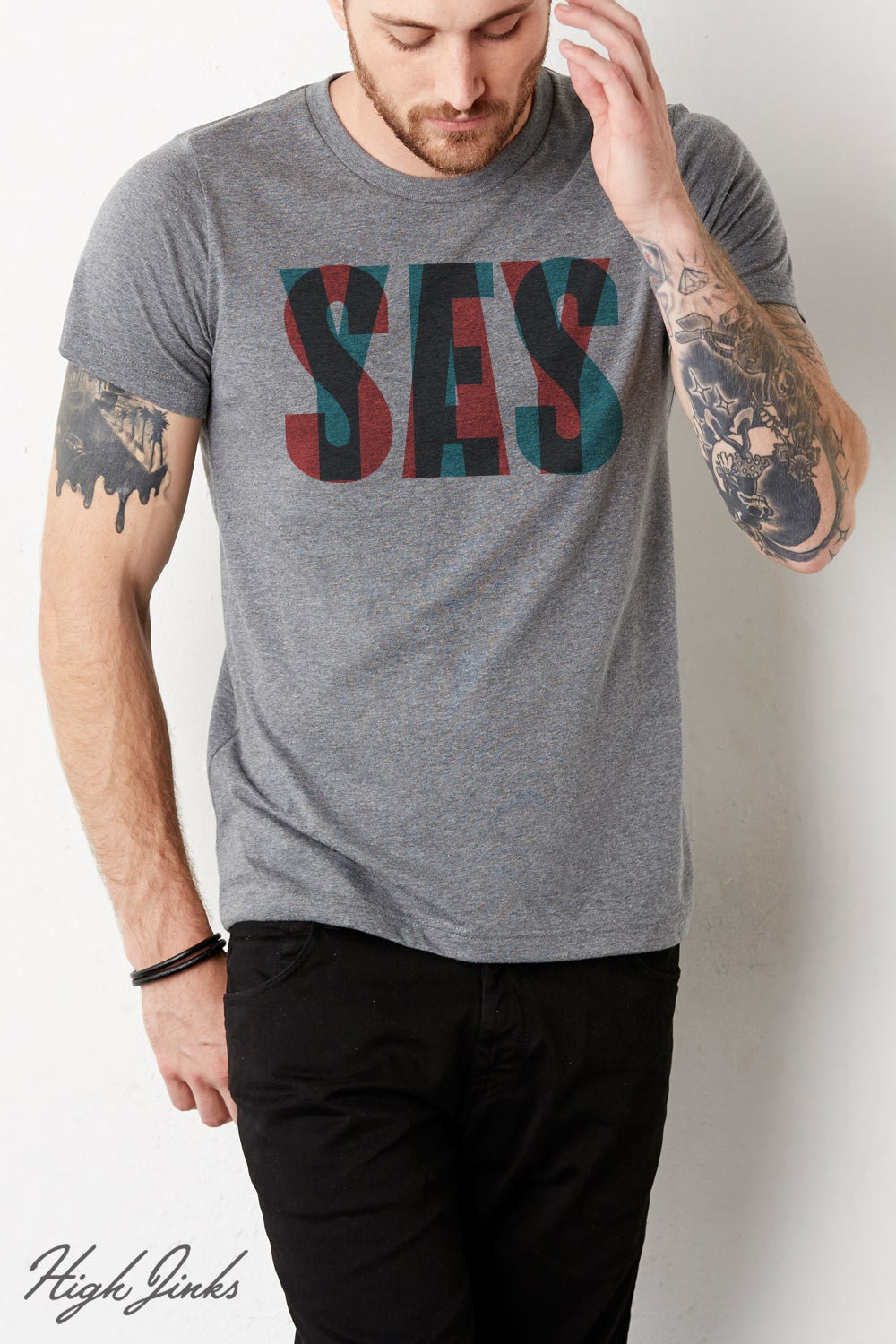 Say yes adult 39 s crew neck t shirt for High crew neck t shirts