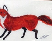Fox greeting card, blank inside for your own message, a print from my original painting