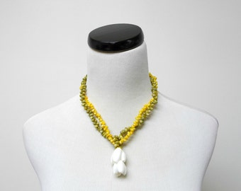 SALE!!! DIANE . 2 strand shell necklace / choker