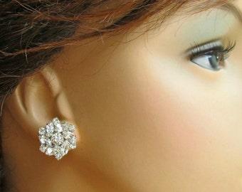 Bridesmaids earrings, Crystal post Earrings, Bridesmaids stud earrings, Bridesmaids Jewelry, Set of 6, Set of 7, Set of 8, Bridesmaids Gifts